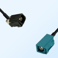 75Ohm Fakra A Female Right Angle - Fakra Z Female Cable Assemblies