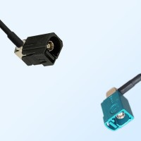 75Ohm Fakra A Female R/A - Fakra Z Female R/A Cable Assemblies