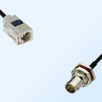 75Ohm Fakra B Female - BNC Bulkhead Female with O-Ring Cable