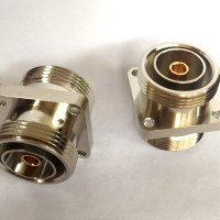4 Hole 32x32mm 7/16 DIN Female to 7/16 DIN Female RF Adapter