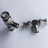1 BNC Female to 2 BNC Male T Type Adapter