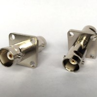 4 Hole Panel Mount 17.5x17.5mm BNC Female to BNC Female RF Adapter