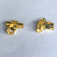 1 RP SMA Male to 2 SMA Female T Type Adapter