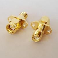 2 Hole 12.2mm hole spacing SMA Male to SMA Female RF Adapter