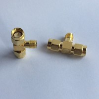 1 SMA Female to 2 SMA Male T Type Adapter