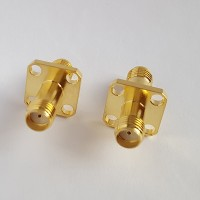 4 Hole Panel Mount 12.7x12.7mm SMA Female to SMA Female RF Adapter