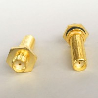 30mm Long Type SMA Female to SMA O-Ring Bulkhead Female RF Adapter