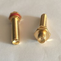 37.5mm Long Type SMA Female to SMA O-Ring Bulkhead Female RF Adapter