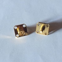4 Hole Panel Mount 12.7x12.7mm SMA Female to SMP Female RF Adapter