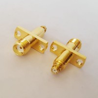 2 Hole 12.2mm hole spacing SMA Female to SMP Female RF Adapter