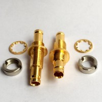 75 Ohm Bulkhead 1.0/2.3 DIN Female to 1.0/2.3 DIN Female RF Adapter
