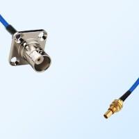 SBMA Bulkhead Male - BNC Female 4 Hole Semi-Flexible Cable Assemblies