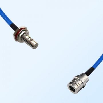 QMA Bulkhead Female with O-Ring - QMA Male Semi-Flexible Cable