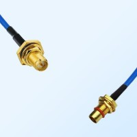 BMA Bulkhead Male - RP SMA O-Ring Bulkhead Female Semi-Rigid Cable