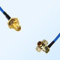 BMA Female R/A 2 Hole - RP SMA O-Ring Bulkhead Female Semi-Rigid Cable