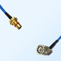 BMA Bulkhead Male - BNC Male Right Angle Semi-Rigid Cable Assemblies