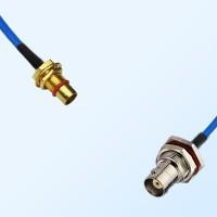 BMA Bulkhead Male - BNC Bulkhead Female with O-Ring Semi-Rigid Cable