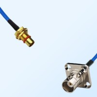 BMA Bulkhead Male - BNC Female 4 Hole Semi-Rigid Cable Assemblies