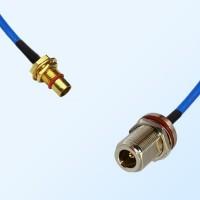 BMA Bulkhead Male - N Bulkhead Female with O-Ring Semi-Rigid Cable