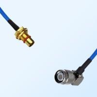 TNC Male Right Angle - BMA Bulkhead Male Semi-Rigid Cable Assemblies