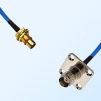 TNC Female 4 Hole - BMA Bulkhead Male Semi-Rigid Cable Assemblies