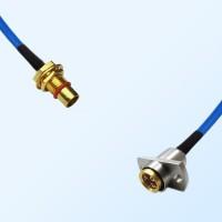 BMA Bulkhead Male - BMA Female 2 Hole Semi-Rigid Cable Assemblies