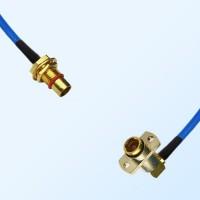 BMA Bulkhead Male - BMA Female R/A 2 Hole Semi-Flexible Cable