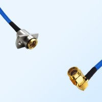 BMA Female 2 Hole - SSMA Male Right Angle Semi-Rigid Cable Assemblies
