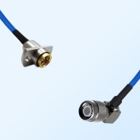 BMA Female 2 Hole - TNC Male Right Angle Semi-Rigid Cable Assemblies