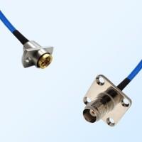 TNC Female 4 Hole - BMA Female 2 Hole Semi-Rigid Cable Assemblies