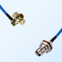TNC O-Ring Bulkhead Female - BMA Female R/A 2 Hole Semi-Rigid Cable