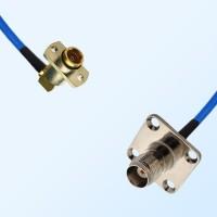 TNC Female 4 Hole - BMA Female R/A 2 Hole Semi-Rigid Cable Assemblies