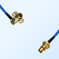 BMA Female R/A 2 Hole - BMA Bulkhead Male Semi-Flexible Cable