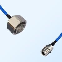 4.3/10 DIN Male - QMA Male Semi-Flexible Cable Assemblies