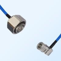 4.3/10 DIN Male - QMA Male Right Angle Semi-Flexible Cable Assemblies