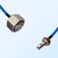 4.3/10 DIN Male - QMA Bulkhead Female with O-Ring Semi-Flexible Cable