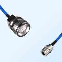 4.3/10 DIN Female - QMA Male Semi-Flexible Cable Assemblies