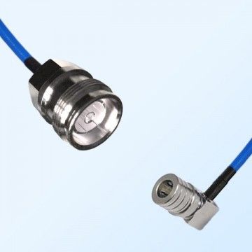 4.3/10 DIN Female - QMA Male R/A Semi-Flexible Cable Assemblies