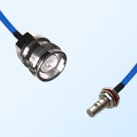 4.3/10 DIN Female - QMA O-Ring Bulkhead Female Semi-Flexible Cable