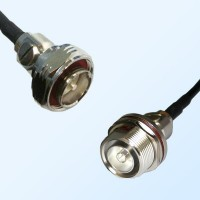 7/16 DIN Bulkhead Female with O-Ring - 7/16 DIN Male Coaxial Cable