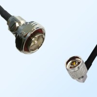 7/16 DIN Male - N Male Right Angle Coaxial Jumper Cable