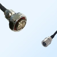 7/16 DIN Male - QMA Male Coaxial Jumper Cable