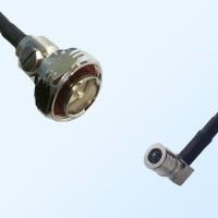 7/16 DIN Male - QMA Male Right Angle Coaxial Jumper Cable