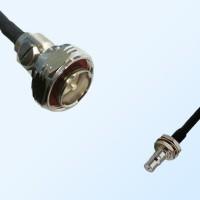 7/16 DIN Male - QMA Bulkhead Female with O-Ring Coaxial Jumper Cable