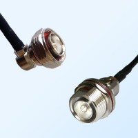 7/16 DIN Bulkhead Female with O-Ring - 7/16 DIN Male R/A Coaxial Cable