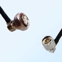 7/16 DIN Male Right Angle - N Male Right Angle Coaxial Jumper Cable