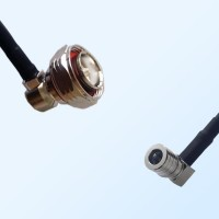 7/16 DIN Male Right Angle - QMA Male Right Angle Coaxial Jumper Cable