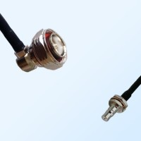 7/16 DIN Male R/A - QMA Bulkhead Female with O-Ring Coaxial Cable