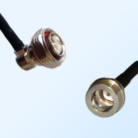 7/16 DIN Male Right Angle - QN Male Coaxial Jumper Cable