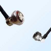 7/16 DIN Male Right Angle - QN Male Right Angle Coaxial Jumper Cable